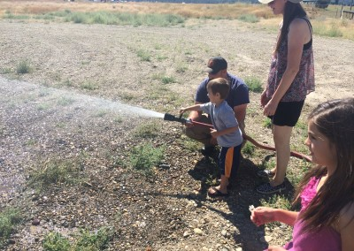 Fire hose with Uncle James at work!